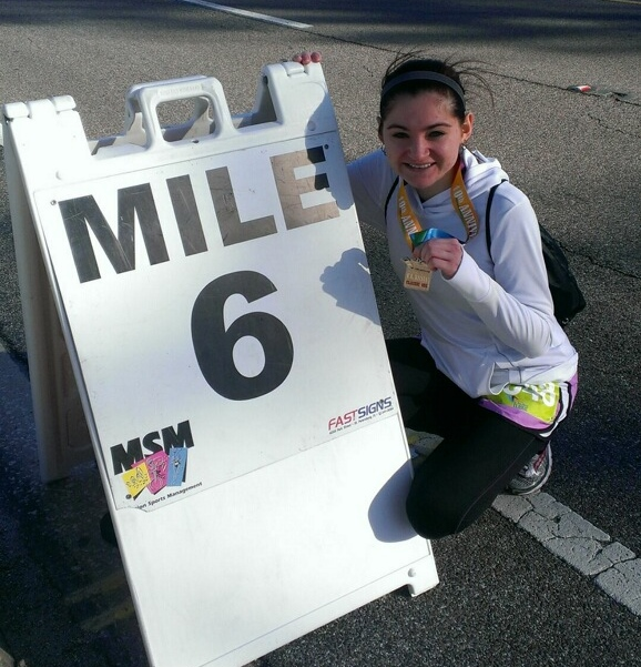 Could not resist a picture with mile 6 marker