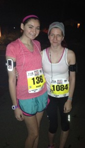Sam and I before the race.