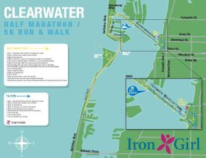 2014 Clearwater Half Marathon Course Map