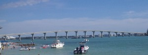 The Sandy Key Bridge. Only one of two bridges I had to go over twice! It is VERY steep.