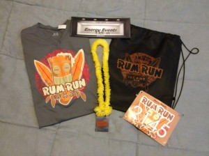 "Race shirt, Bib, and my ""Medal"""
