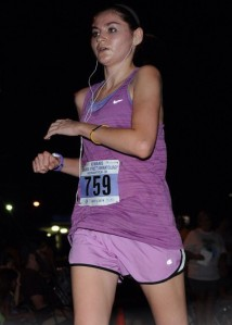 Not the most flattering race picture but as you can tell it was a HOT run!