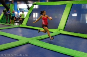 Surprisingly, running on a trampoline is easy and fun!